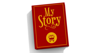 "Book with ""My Story"" on the cover"