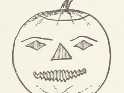 Pencil Drawn picture of carved halloween pumpkin